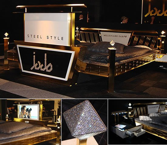 24 ct gold bed with hi tech features by jado steel offers for High tech luxury bed