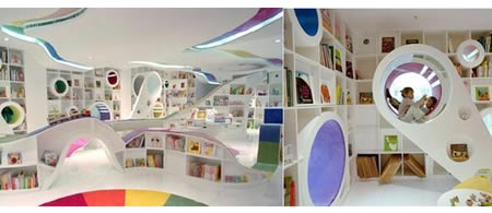 Kids Republic A Rainbow Colored Bookshop For China Kids