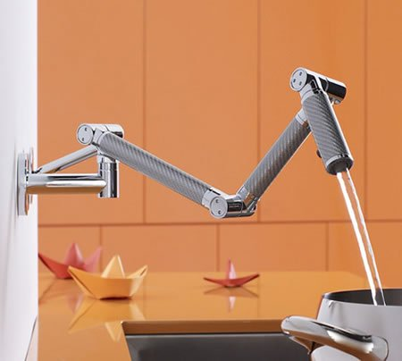 Kohler Karbon Wall Mount Kitchen Faucet Is A Beauty