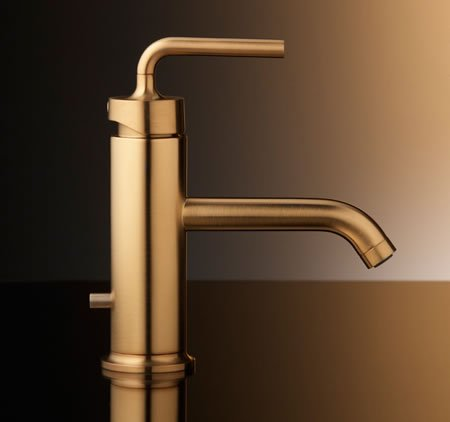 Brushed Gold bathroom faucets by Kohler are spectacular -