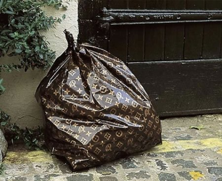 louis vuitton trash bag
