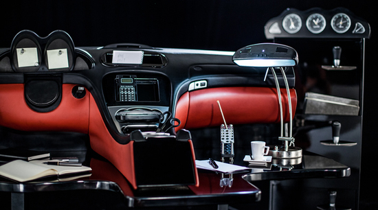 Cape town woman transform a mercedes sl into an office for Mercedes benz main office