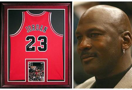 check-out 5b720 1085b Michael Jordan Bulls Jersey Memorabilia - a piece of art! -
