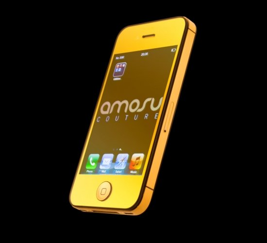 Amosu Couture offers 24ct mirror gold iPhone 4S -