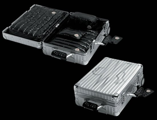 Moncler teams up with Rimowa for the Classic Flight Trolley