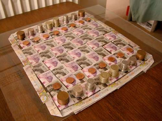 money-chess-board