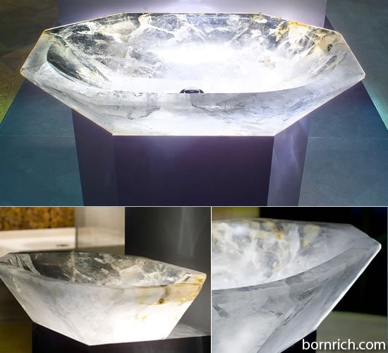 Get The Most Expensive Rock Crystal Sink For 20 000
