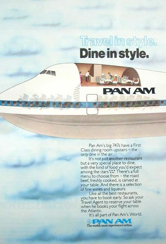 Vintage Ads - Pan Am First / Clipper class : Luxurylaunches