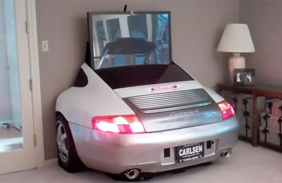 Porsche Tv Display Unit Provides Entertainment At Home On