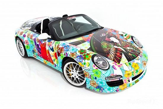Porsche Speedster Art Car Displays A Japanese Inspired Artwork By