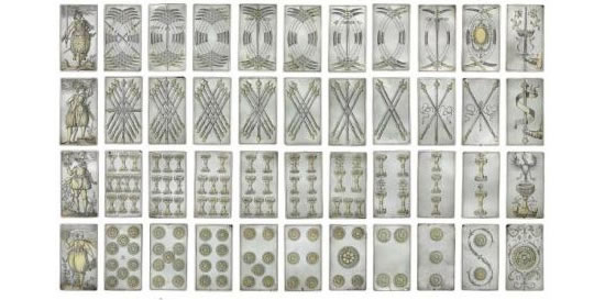 rare_deck_of_silver_playing_cards