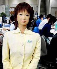 Saya the robot makes debut as a teacher at Japanese school