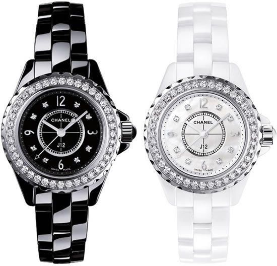 shop chanel false scale watch in upscale white mademoiselle ceramic jewellery crop the editor subsampling copy watches product