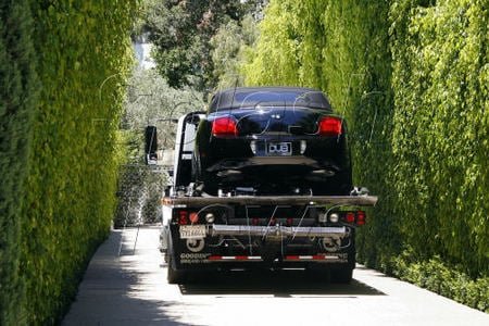 David and Victoria Beckham take delivery of their new cars in LA
