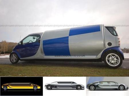 Marvelous Carbonyte Stretch Smart Car, Lamborghini, Bugatti Etc.