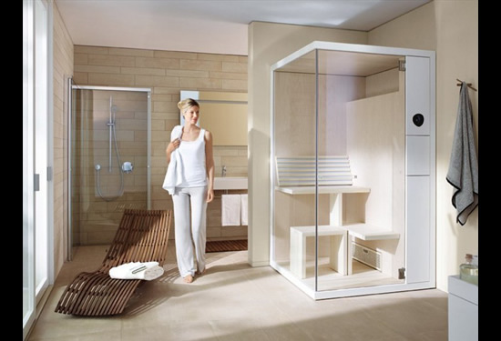 Duravit S Inipi B Sauna Saves Space In A Bathroom