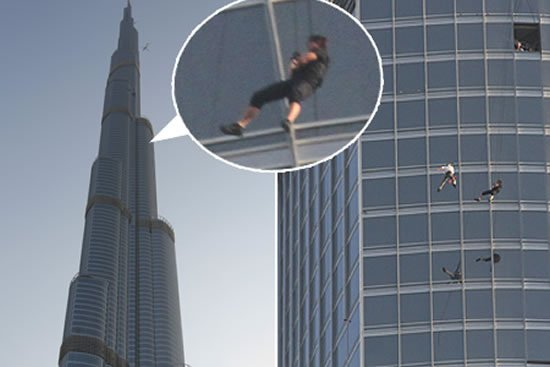 Tom Cruise hangs out from Burj Khalifa's observation deck for Mission Impossible: Ghost Protocol : Luxurylaunches