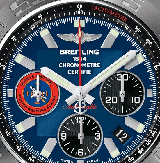 aviator watch breitling sekl  Breitling Chronomat 44 Topgun timepiece is for the aviation aficionados