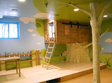 Custom made tree house room by kidtropolis for your little for Treehouse kids room