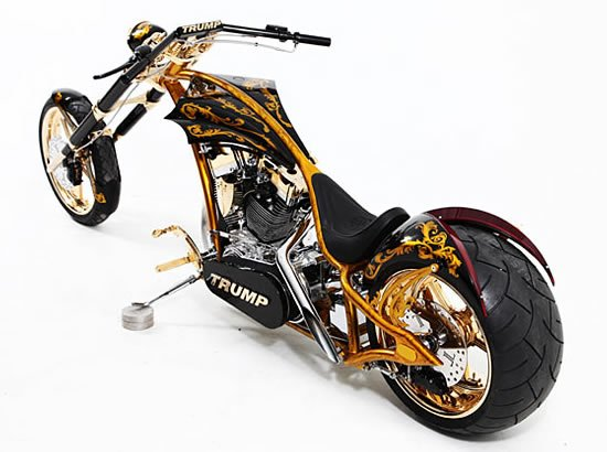 Donald Trump gets a Custom Gold Bike from Senior of American Choppers : Luxurylaunches