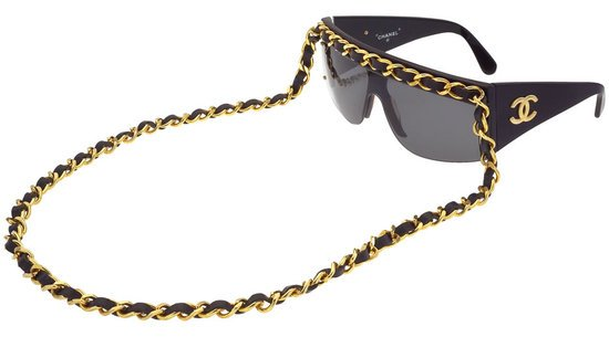 Vintage Chanel Gold And Black Chain Sunglasses Up For Grabs