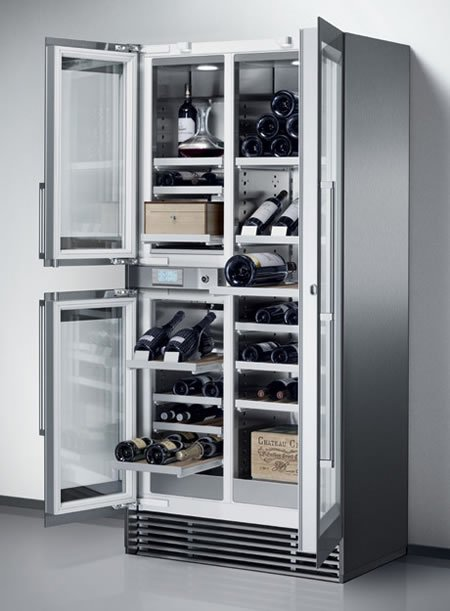 Wine Storage Refrigerator From Gaggenau Is Spacious And