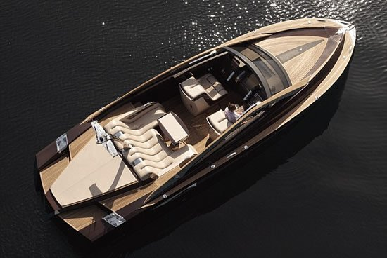 Antagonist wooden speed boat is designed to appeal to 007-influenced ...