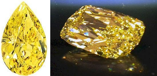 Pair of rare yellow diamonds to be auctioned by Christie's in New York