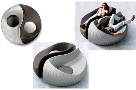 Yin yang shaped d cor from dedon luxurylaunches for Decoration murale yin yang