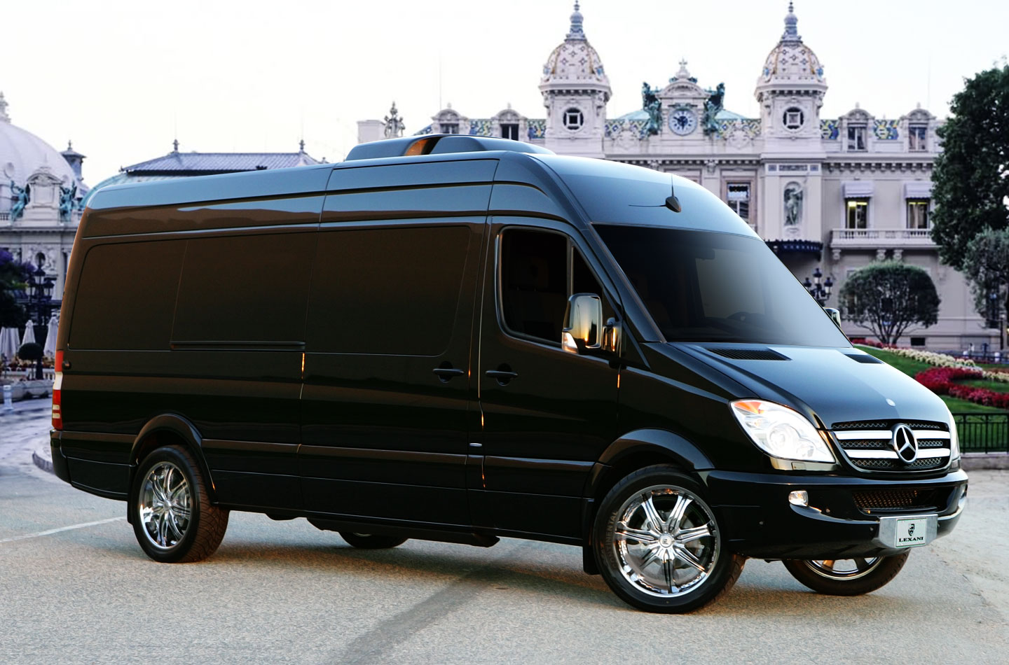 Mercedes benz sprinter l5 b van rides with a high tech for Mercedes benz conversion van
