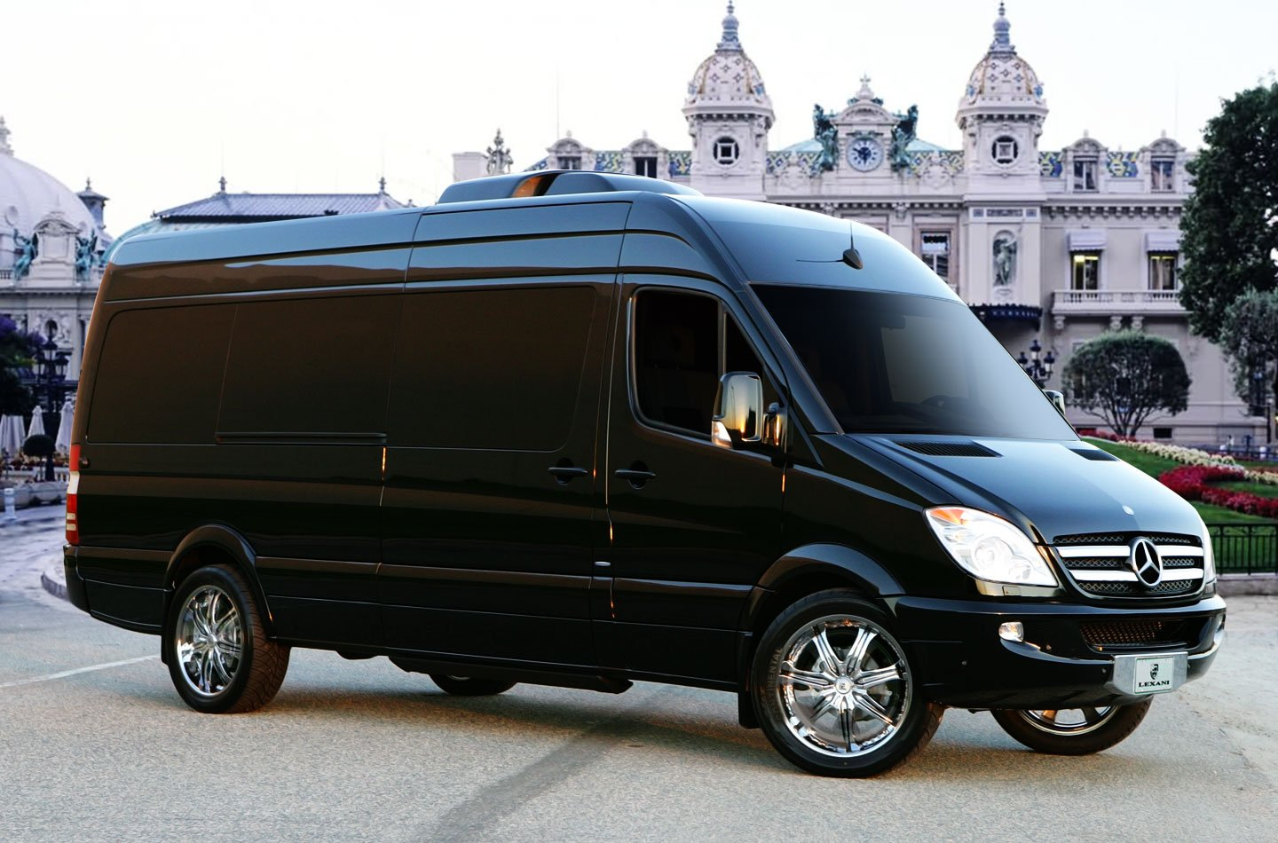 Mercedes benz sprinter l5 b van rides with a high tech for Mercedes benz van