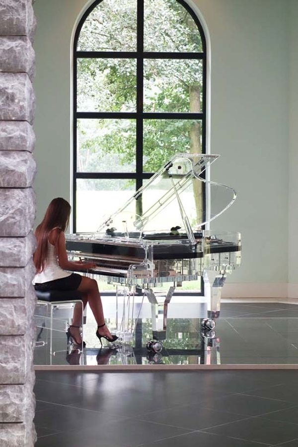 Transparent Grand Piano Makes Your Music Crystal Clear
