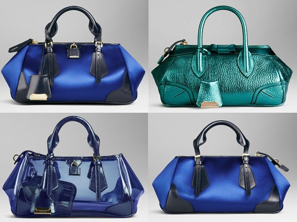 8efed1fa1de6 Blue Burberry bags from Spring Summer 2013 to beat post Valentine Day s  blues