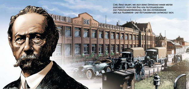 """Who Invented The Automobile >> """"Carl Benz – A life dedicated to cars"""" a comic book ..."""