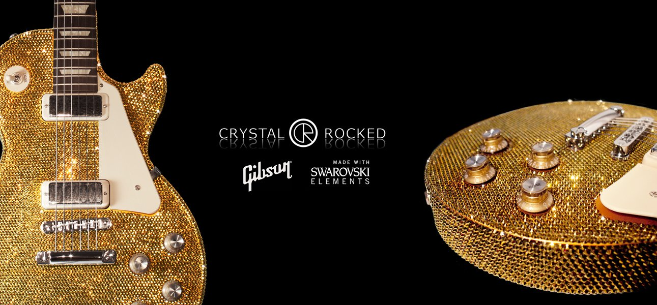 Crystal Rocked S Swarovski Guitars Made In Association