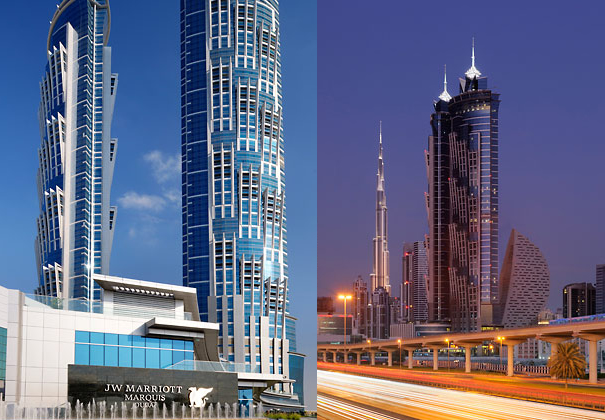 JW Marriott Marquis Dubai opens up as the world's tallest ...