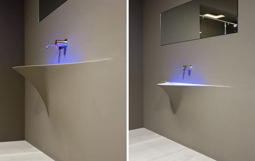 Antonio Lupi Silence Is A Wall Integrated Wash Basin
