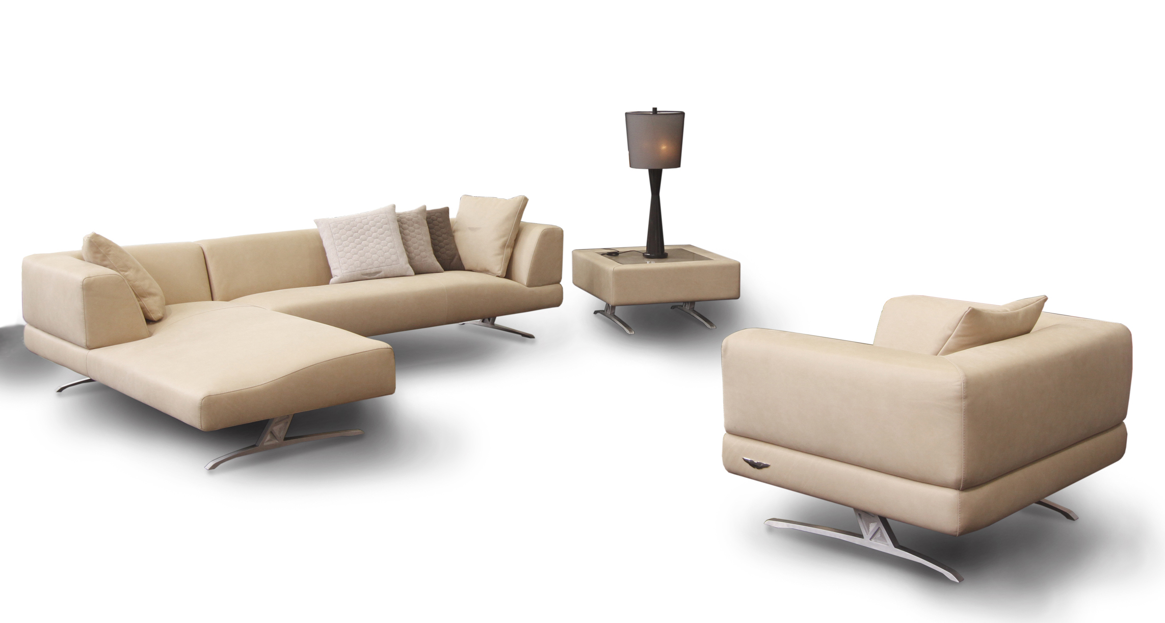 2013 Aston Martin Interiors Collection S Sofa And Bed Sport The Iconic Wings Logo Luxurylaunches
