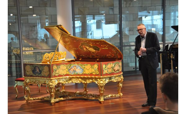 C Bechstein Unveils Golden Grand Piano To Mark Its 160th