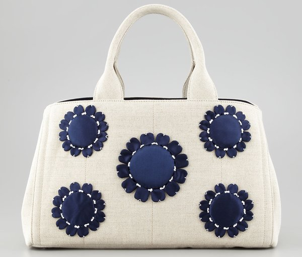 prada handbag pink - Prada white canvas tote for the day and black leather tote for the ...