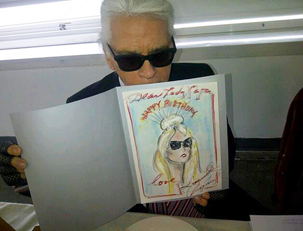 Karl Lagerfeld Designs A Hand Made Birthday Card For Lady