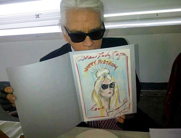 Karl Lagerfeld designs a handmade birthday card for Lady Gaga – Fashion Birthday Cards
