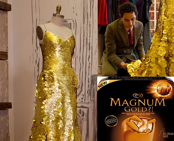 A 1 5 Million Gold Gown Designed To Mark The American