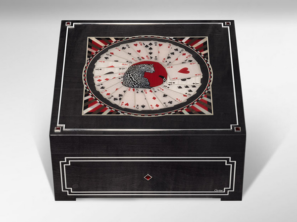 Cartier Poker Box, Cartier card box, mother of pearl poker box