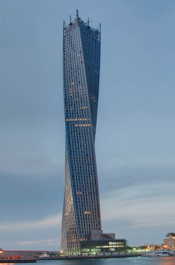Car Show 2015 >> Cayan Tower, the world's highest twisted tower, opens up ...