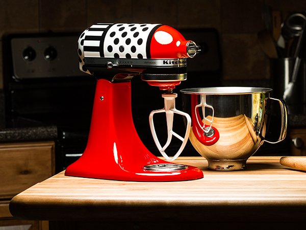 Colorware Gives Kitchenaid Artisan Mixer A Polka Dot And