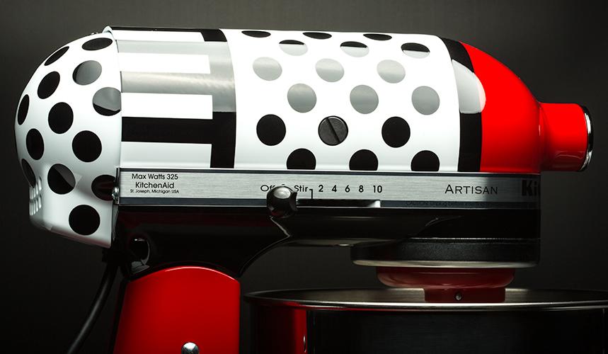 Colorware Gives Kitchenaid Artisan Mixer A Polka Dot And