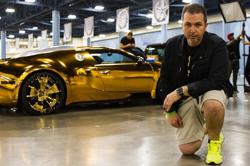 flo-rida's bugatti veyron goes gaudy with a gold chrome makeover -