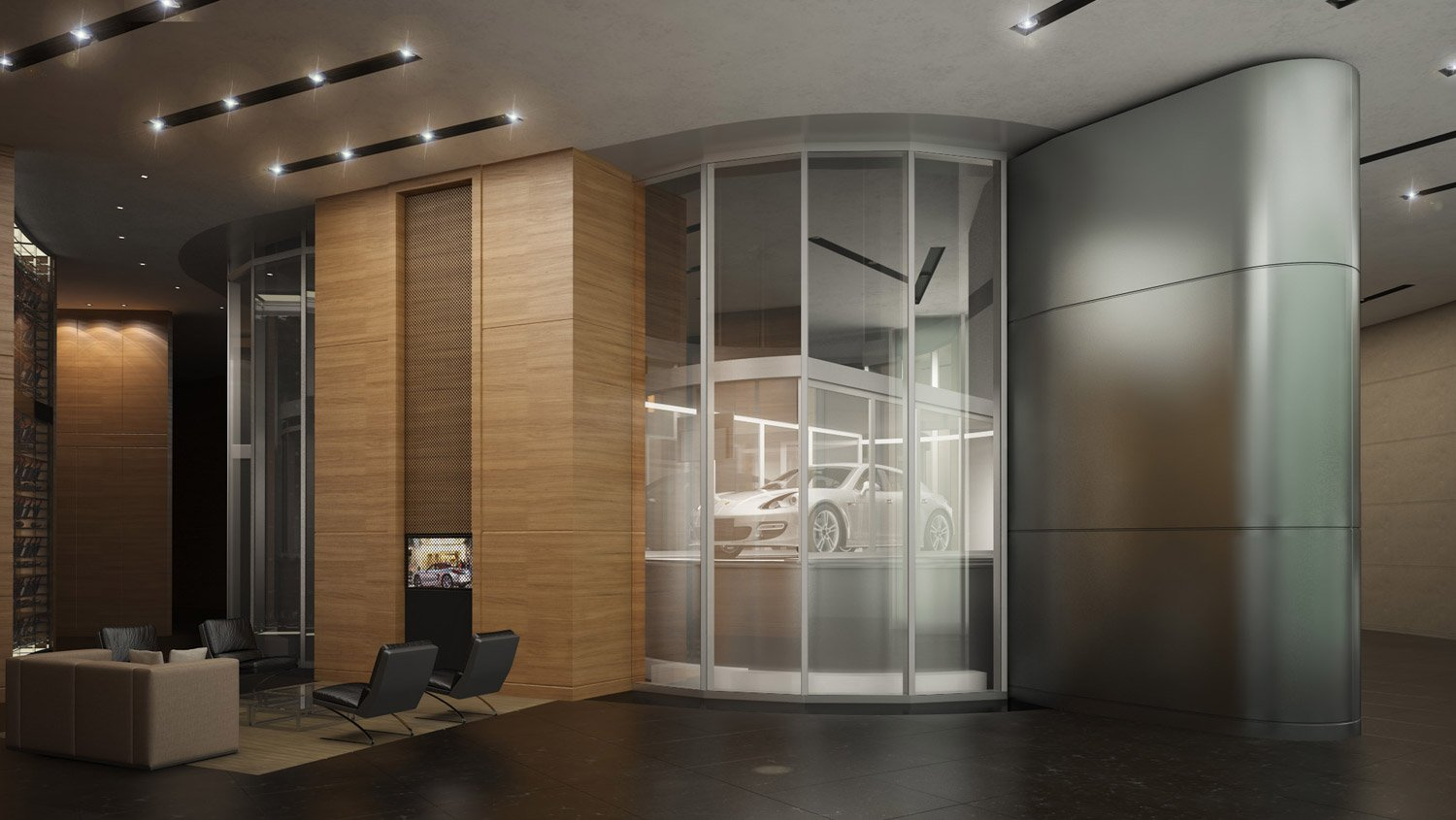 Porsche design tower miami to rise high with auto for Luxury homes with elevators