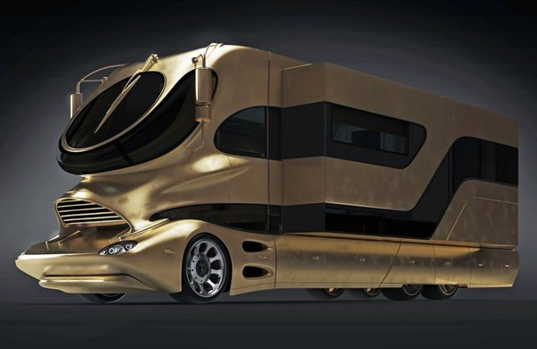 World's most expensive motorhome clad in gold is up for $3.1 million in Dubai : Luxurylaunches
